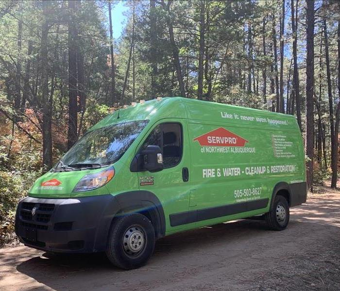 SERVPRO of Northwest Albuquerque Van Out in the Mountains.
