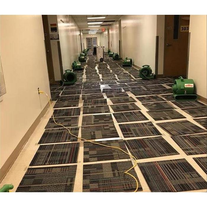 drying carpet tiles